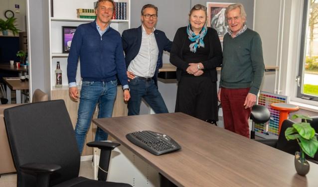 Robert en Johan Blokker en Rutie en Kees Breebaart.