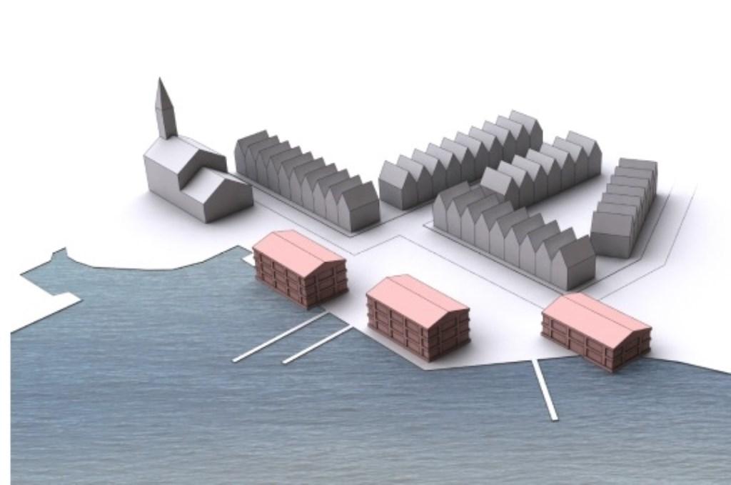 Alternatief bouwplan voor Breekoever. (Foto: aangeleverd) © rodi
