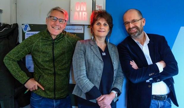 Het presentatie-team. V.l.n.r. Jan van der Wiele, Patty de Jong en Marcel Molle.