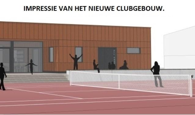 Impressie van het nieuwe clubgebouw van ATC Kadoelen.