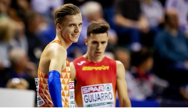 Tony van Diepen voorafgaand aan zijn bronzen race.