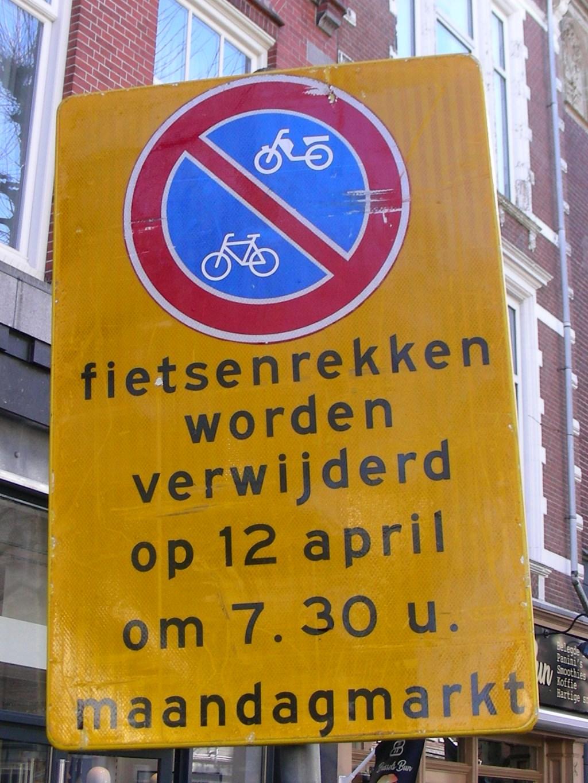 Dat wordt even geen fietsen plaatsen. Foto: Ad Timmers) © rodi