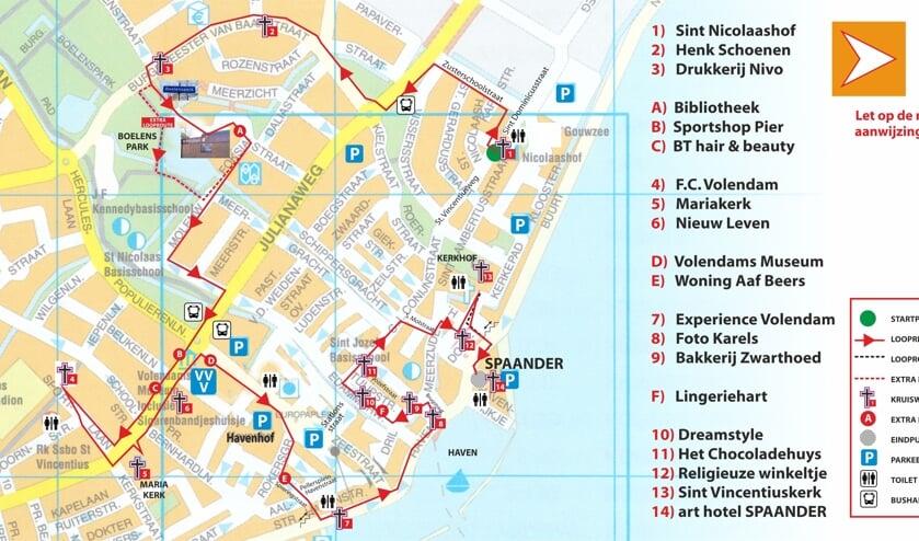 Plattegrond Kruiswegroute Volendam