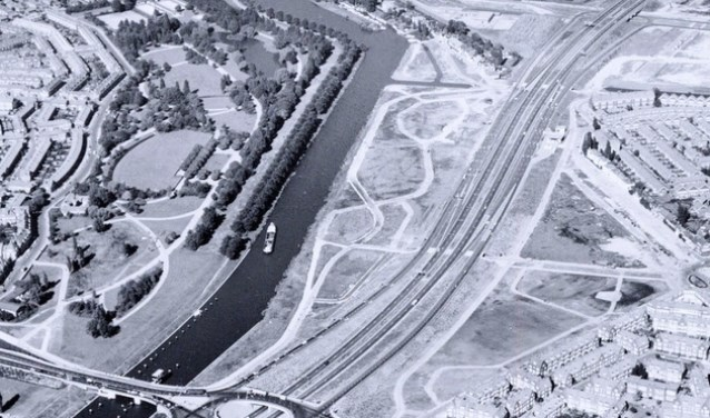 Luchtfoto uit 1969 van het Noorderpark.