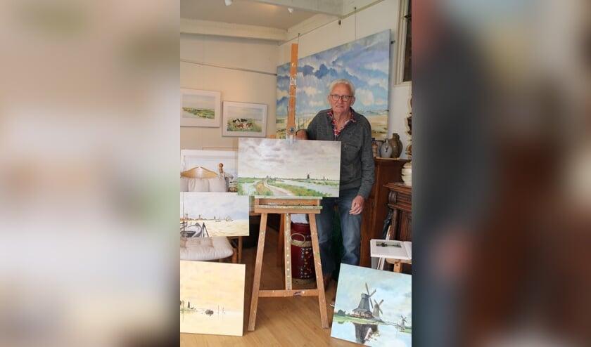 Jelle Bakker in zijn atelier.