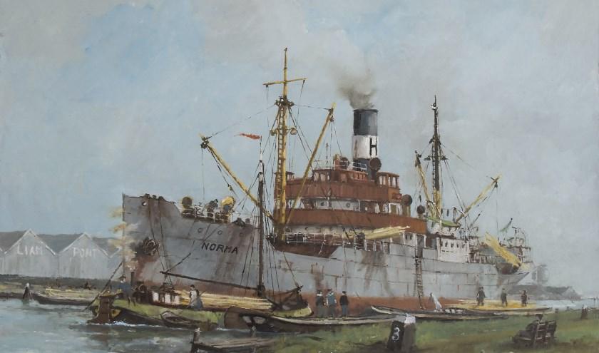 Werk van zeeschilder Fred Boom.