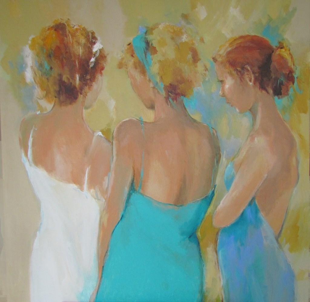 'De drie gratiën' van Irma van de Zande. (Foto: Aangeleverd) © rodi