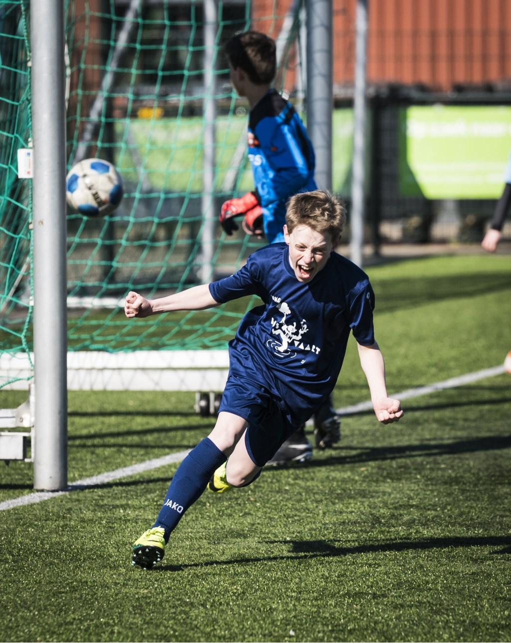 Wat een emotie na een fantastische goal. (Foto: Renata Jansen) © rodi