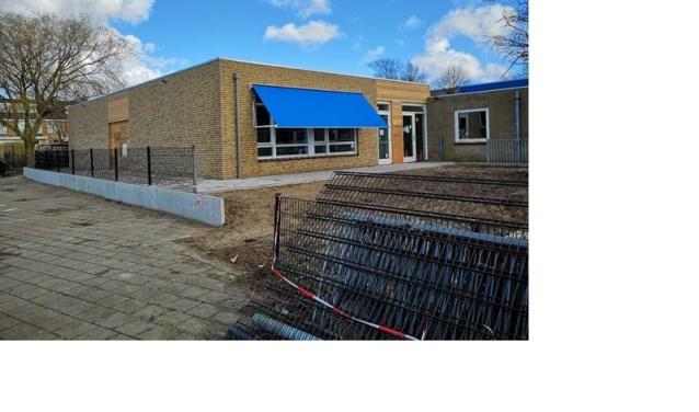 De nieuwbouw van de Montessorischool is inmiddels in gebruik genomen.
