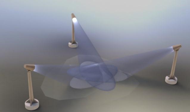 De lichtobjecten.