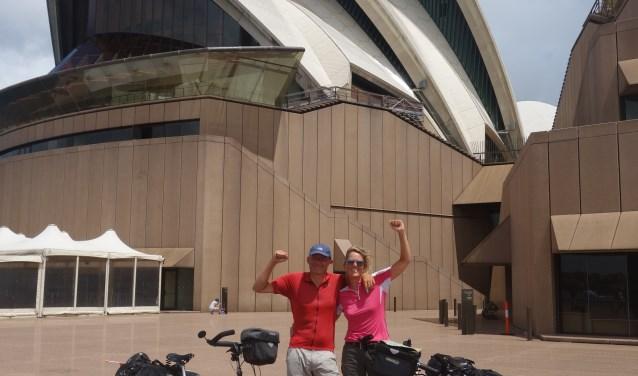 Aankomst Gijs en Aimee Opera House Sydney.