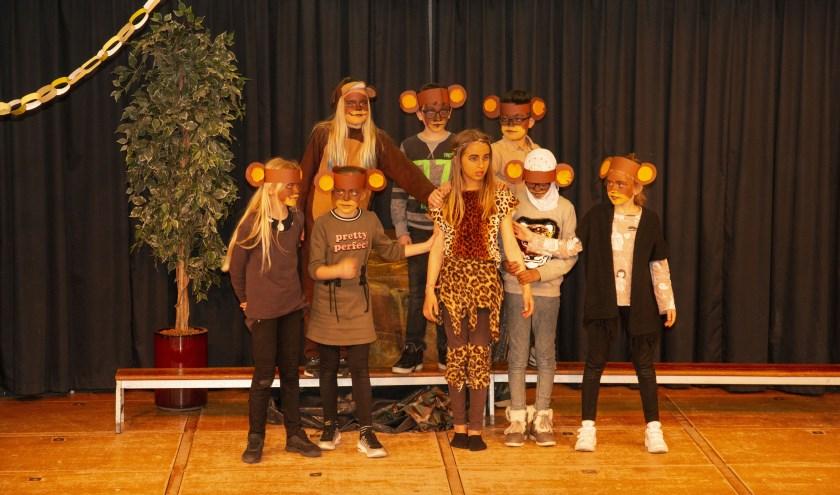De kinderen van 't Skitteljacht brachten de voorstelling 'Mowgli'.