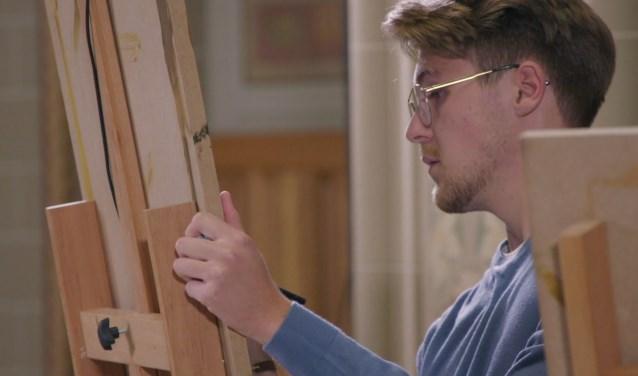 Sebas uit Egmond aan den Hoef won   op overtuigende wijze het project Rembrandt.