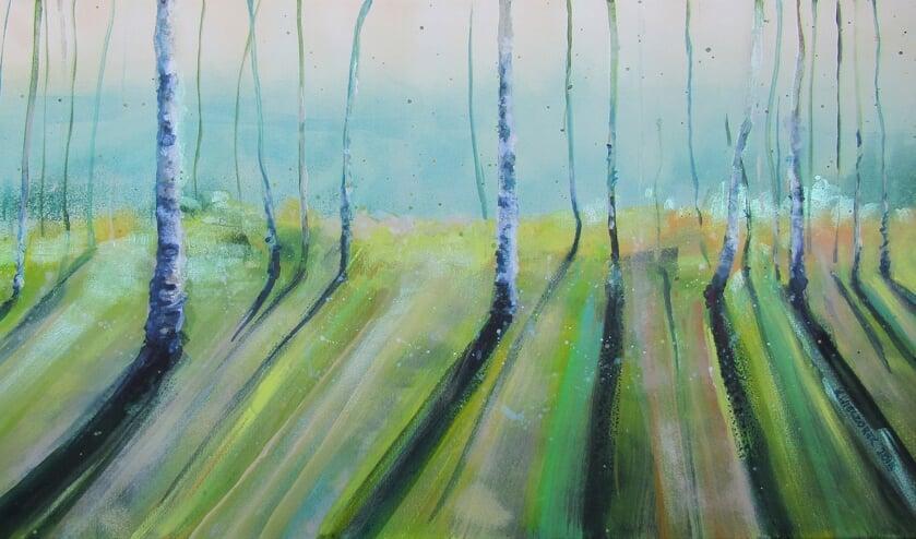 Bomen, een werk van Kinga Wieczorek.