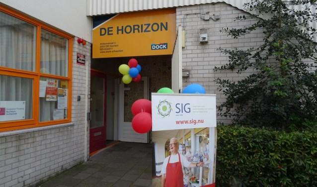 Het nieuwe kantoor in De Horizon.