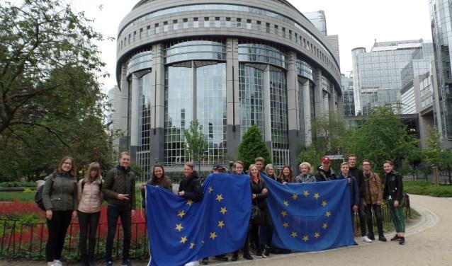 Het bezoek van de leerlingen van het Han Fortmann aan Brussel stond in het teken van de Europese Verkiezingen.