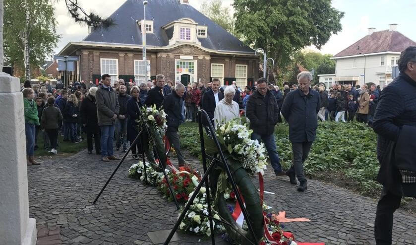 Er is veel belangstelling voor de Dodenherdenking in Beverwijk.
