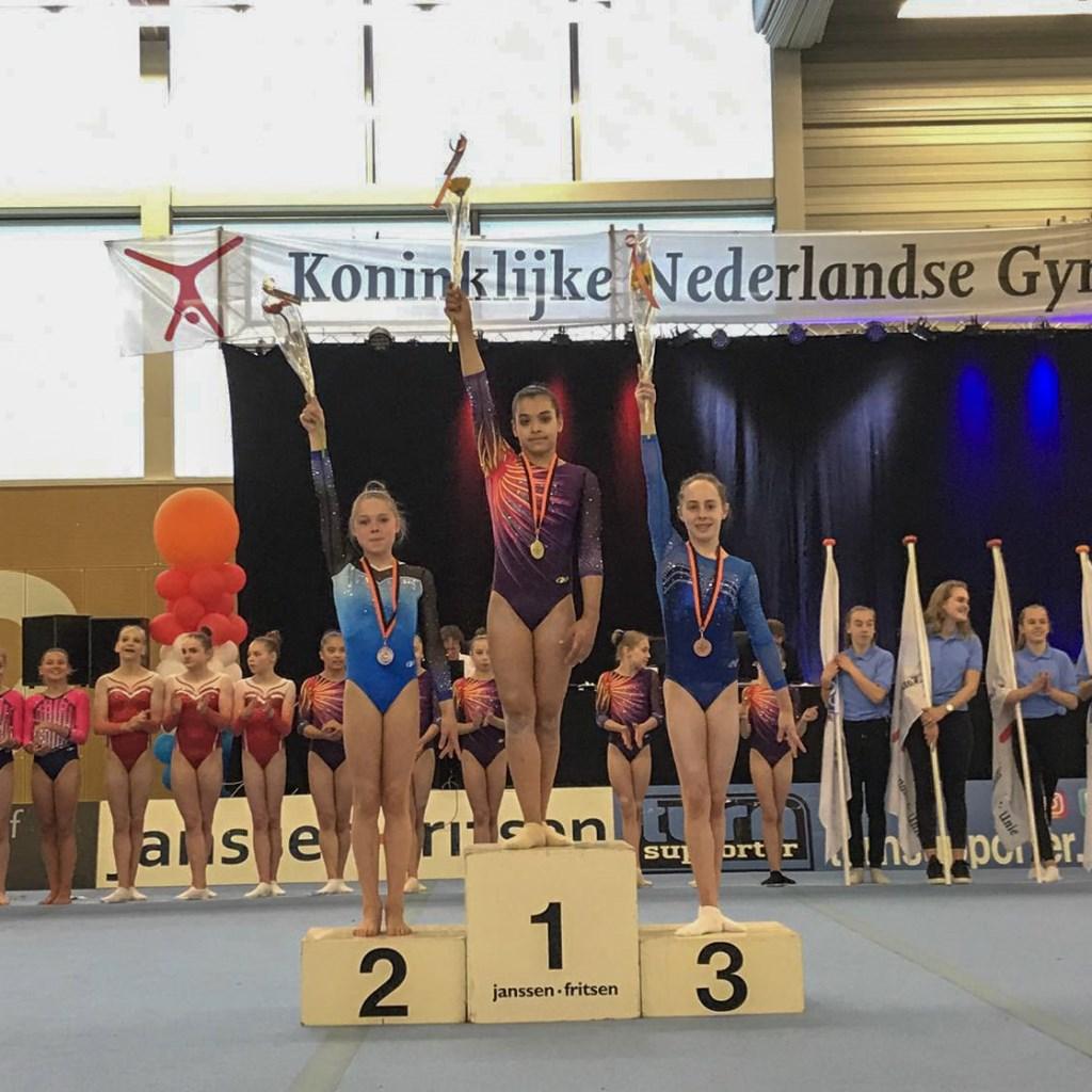 Mara Slippens eindigde op de derde plaats tijdens de eerste kwalificatiewedstrijd in Vianen.  © rodi