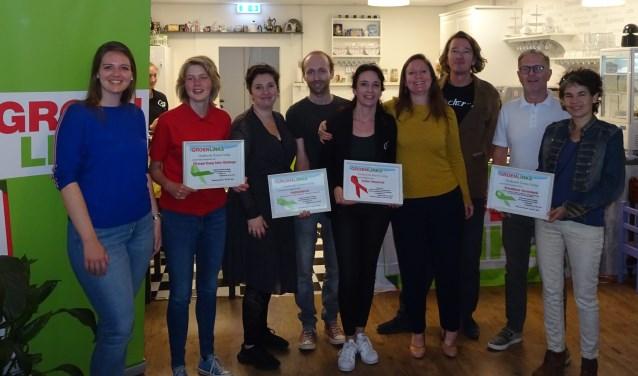 De winnaars van de Groene Lintjes, evenals de winnaar van het Rode Lintje.