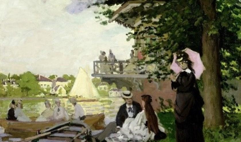 Tuinhuizen, impressionistisch schilderij door Claude Monet.