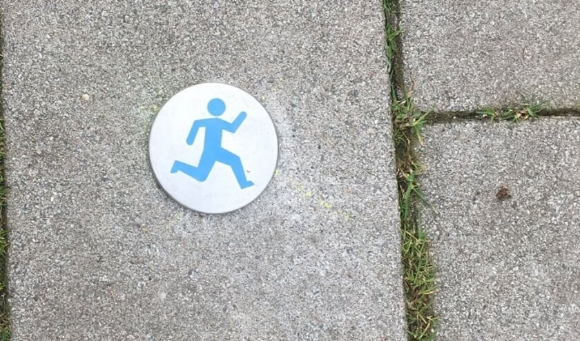 De hardlooproute is goed te volgen via de punaises op de grond.