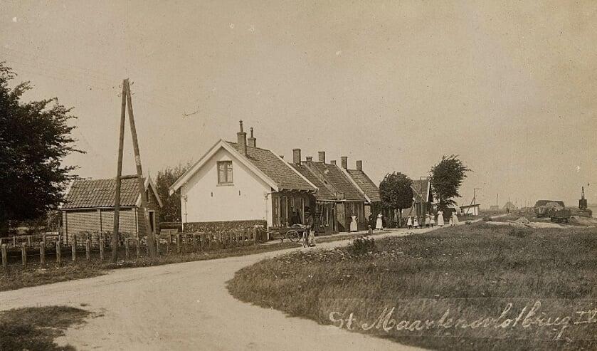Sint Maartensvlotbrug, rond circa 1916.