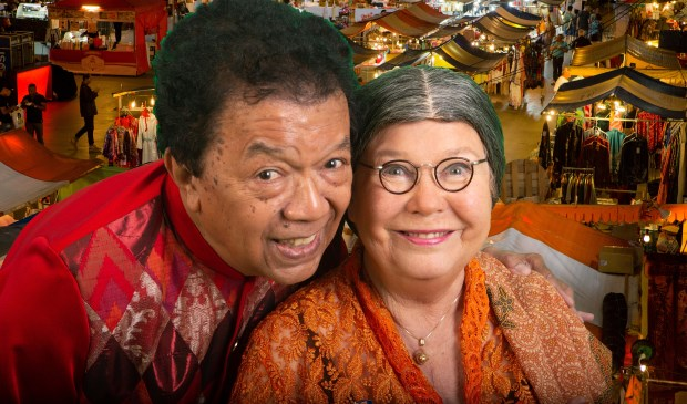 Ais en Wieteke zijn er bij op de Pasar Malam in Den Helder.