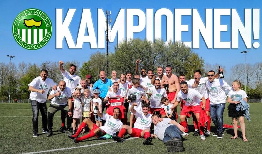 De kampioenen van HBOK.