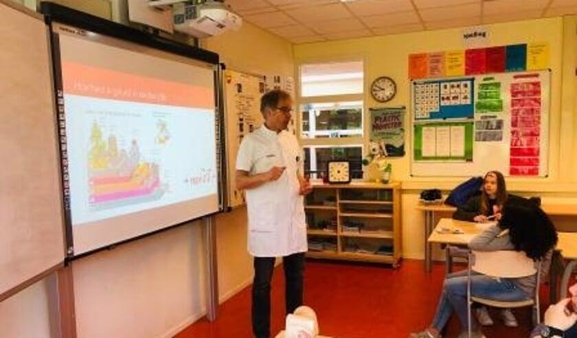 KNO-arts, Jan van der Borden voor de klas.