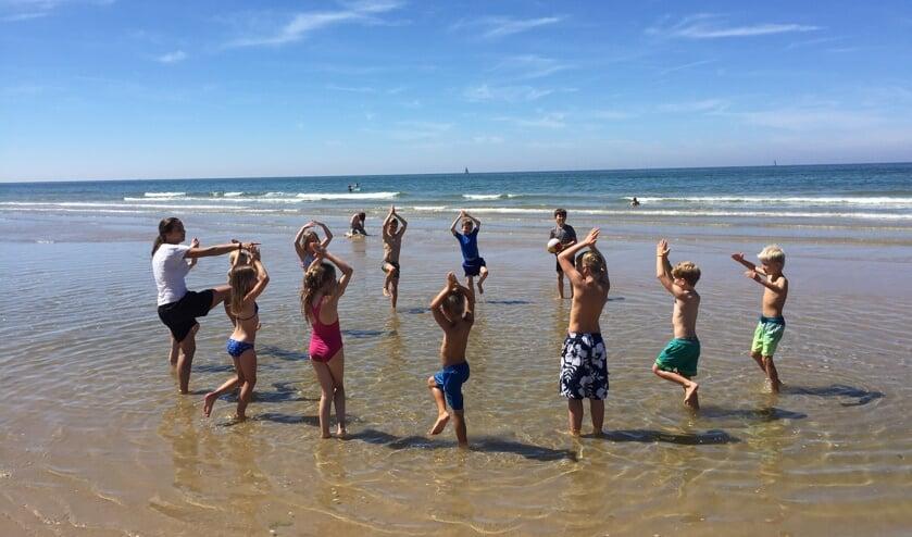 Heerlijk sporten op het strand.