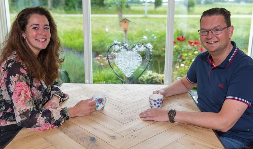 Annemarie en Ramon Laponder zijn trots op de stichting. Door omstandigheden ontbreekt Petra de Lange op de foto.
