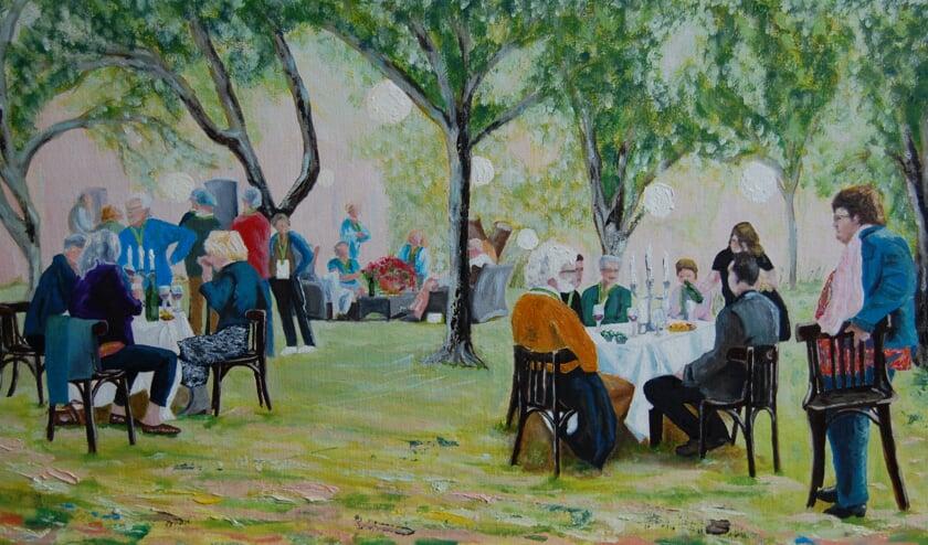 Schilderij van Monique G. Scheers.