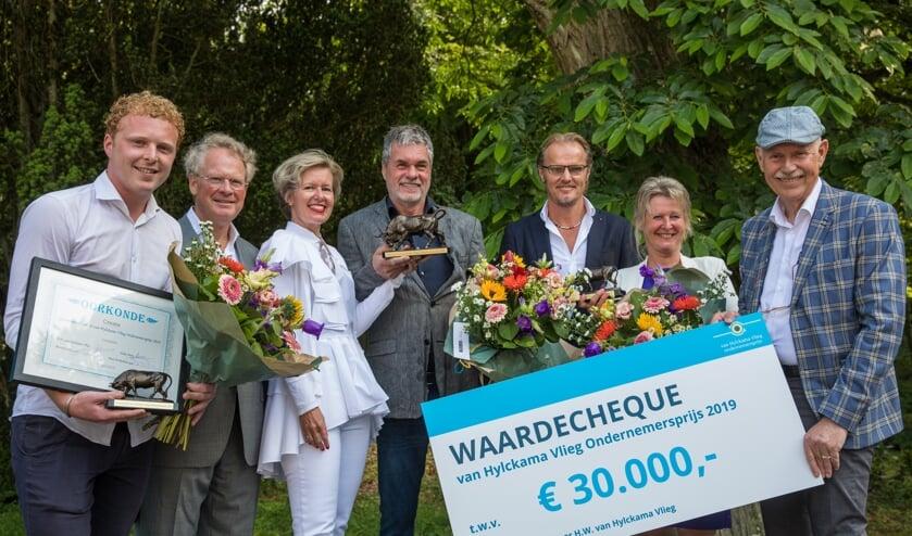 V.l.n.r. Martijn Apeldoorn, Dick Winkelhuis, Elske Doets, Simon Loerakker, Patrick Oud, Gitta Klopper en Hank van Hylckama Vlieg.