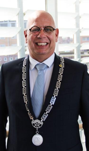 Burgemeester Jan Franx, van de gemeente Koggenland.
