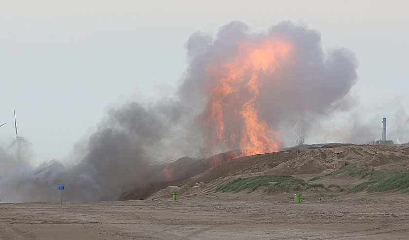 De bomexplosie werd in de wijde omgeving gezien