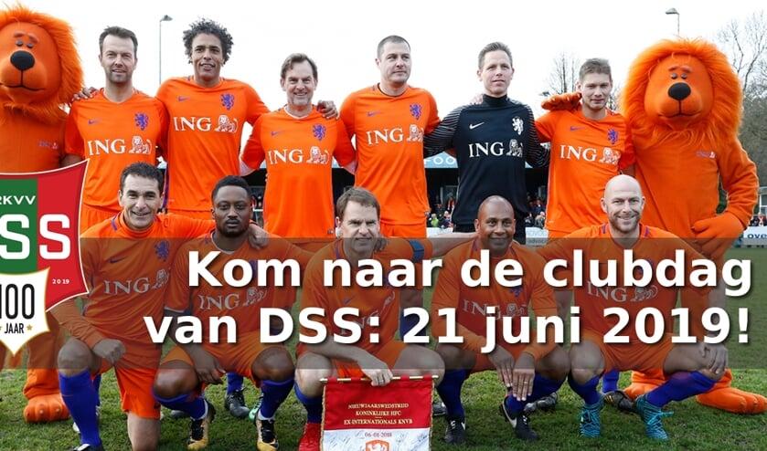 Zie ex-internationals achter de bal tegen het 1ste van DSS.