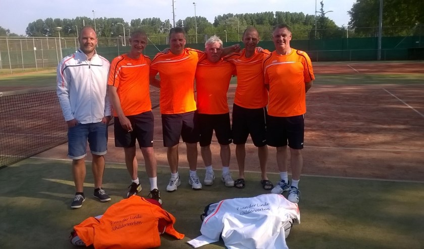 De tennissers van team Heren 2.