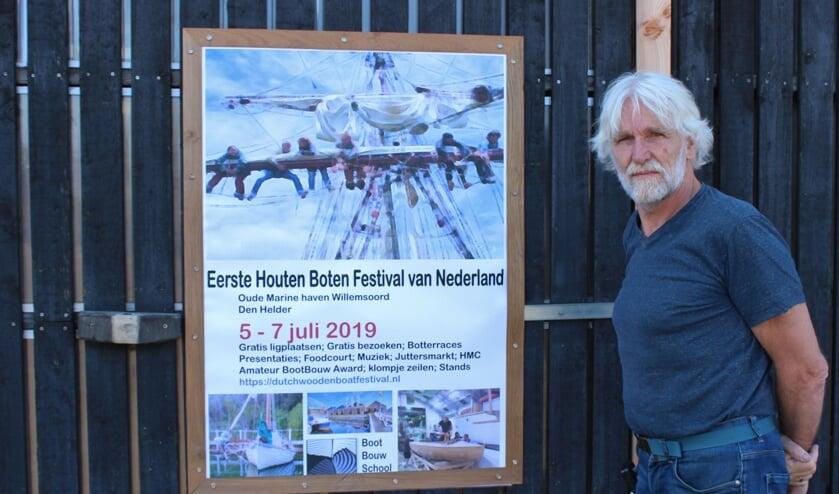 Organisator Bert van Baar voor de Scheepstimmerwerf.