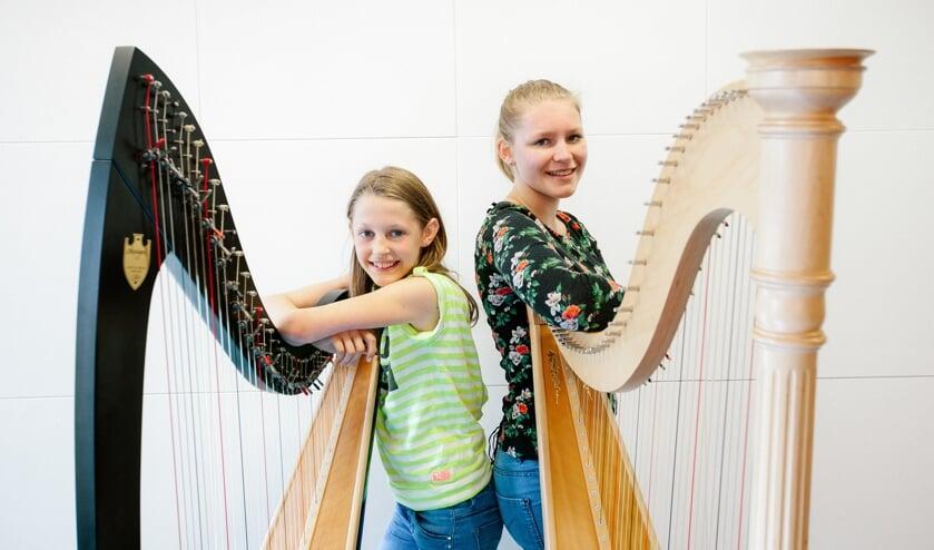 Leerlingen van het Cultuurhuis verzorgen het harpconcert.