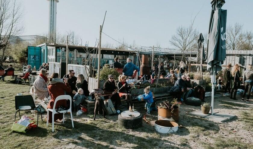 Zelfs bij lagere temperaturen is Het Veerkwartier populair.