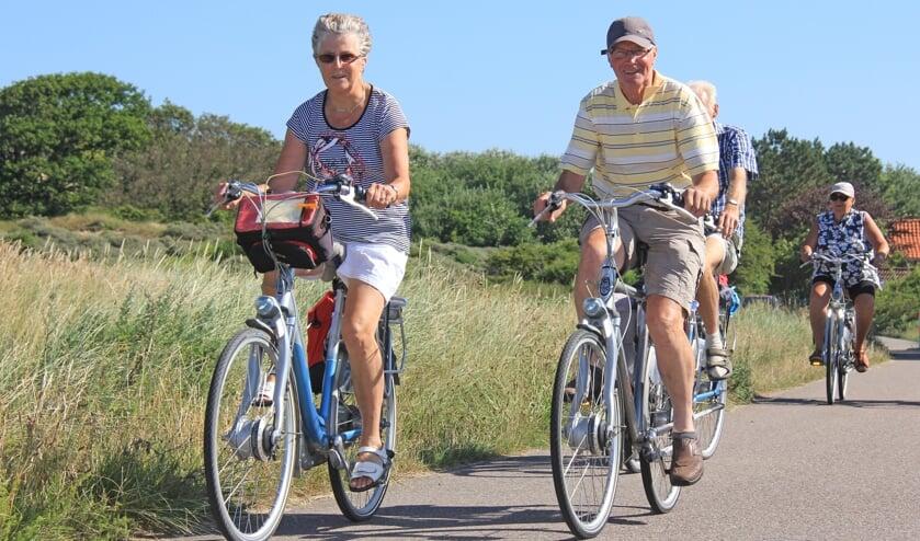 Heerlijk fietsen door de duinen.