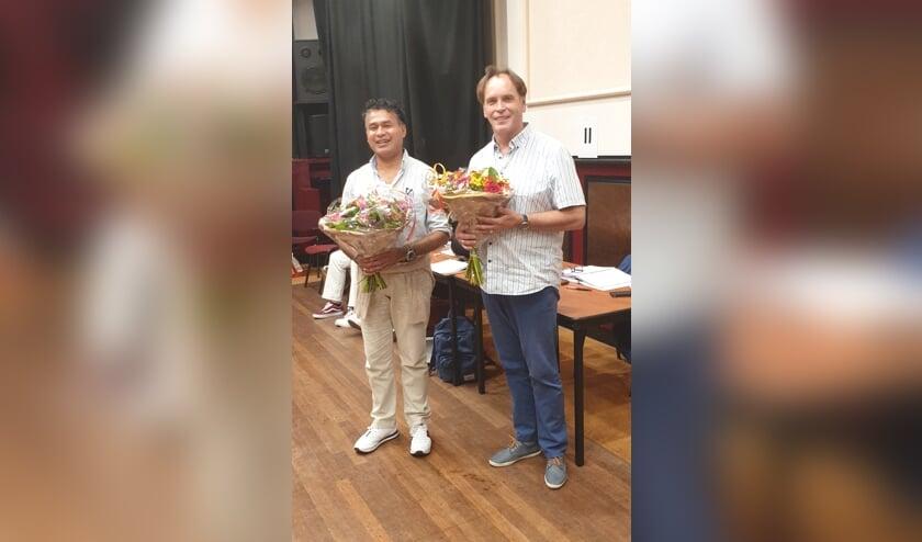 Jaap Dijkhuis (rechts) en Ed Latuhette.