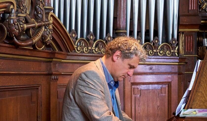 Mark Heerink,organist van de Koepelkerk en stadsorganist van Hoorn.