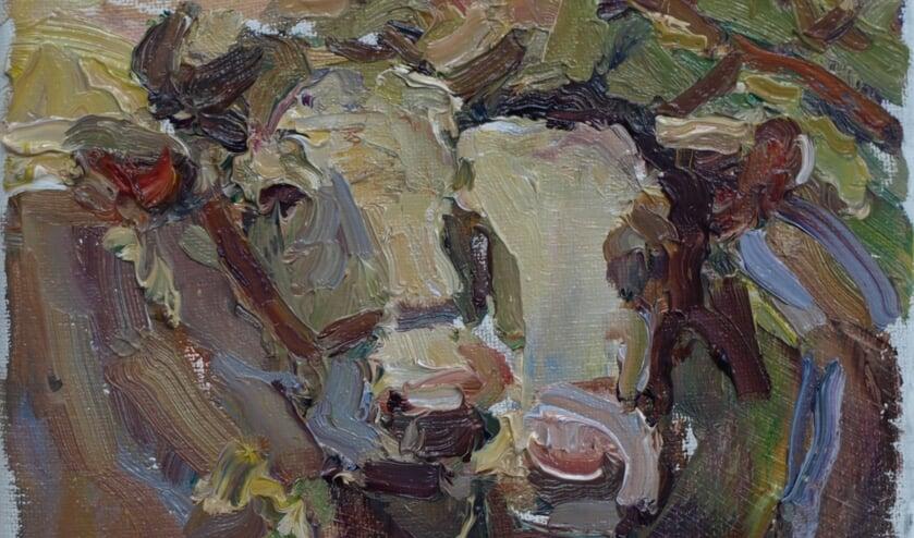 Gezellig koeien schilderen