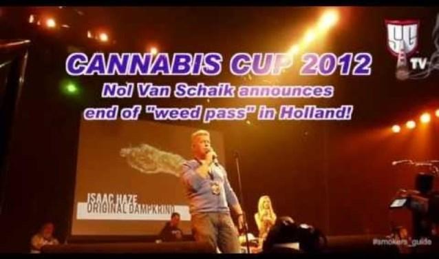 """Death of the Weed Pass"" Nol Van Schaik at the Cannabis Cup 2012 SGTV  © rodi"