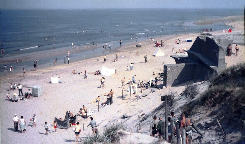 Kruisbergstrand in de jaren vijftig van de vorige eeuw.