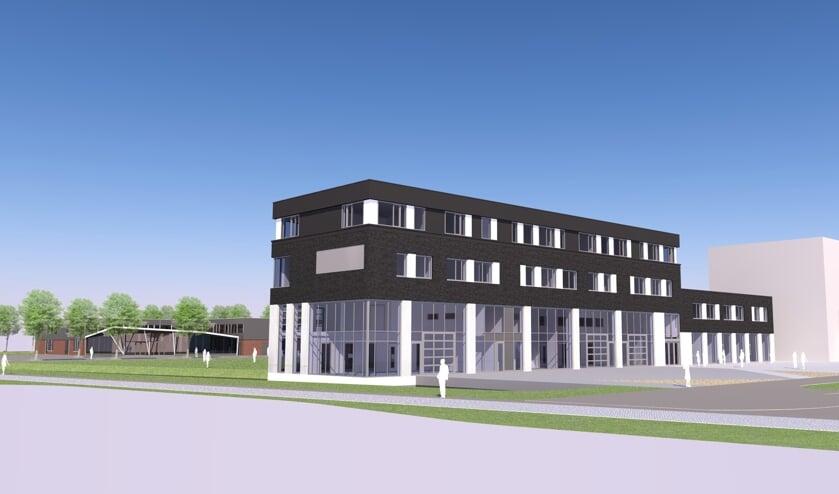 De uitbreiding met een etage is nodig omdat de school flink groeide.