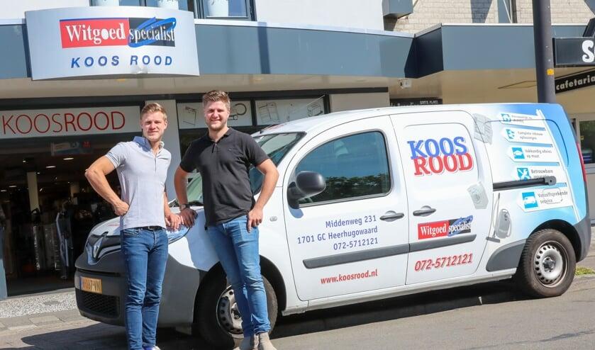 Martijn (l) en Jeroen Rood zetten de familietraditie voort.