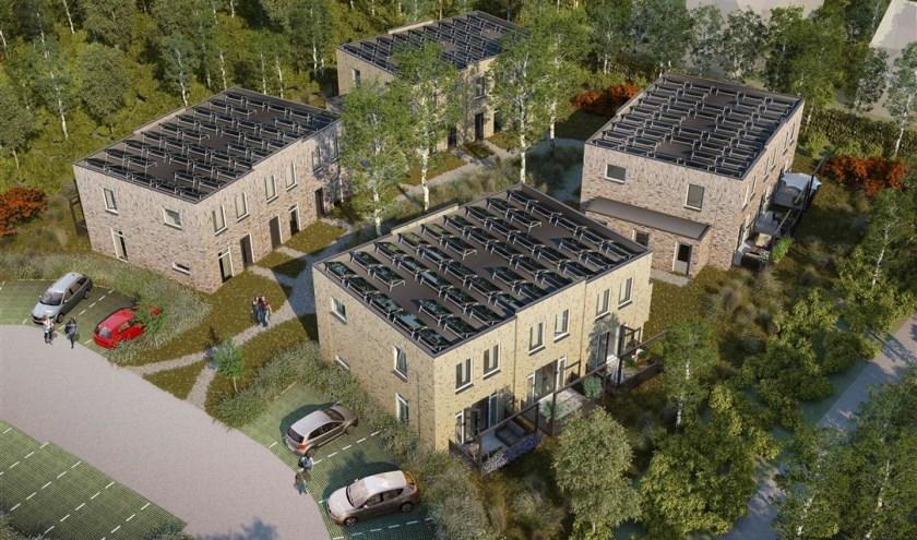 Bouw twaalf NOM-woningen in Bergen aan Zee verloopt voorspoedig.