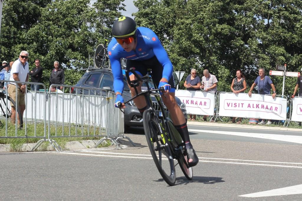 De Italiaan Edoardo Affini werd derde op tijdrit. (Foto: Frits van Eck) © rodi